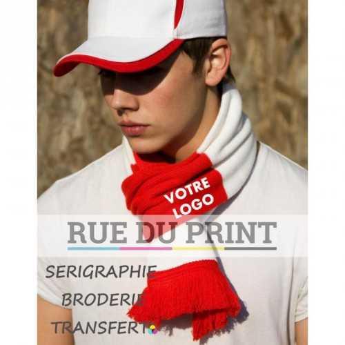 Echarpe publicité Team 100% acrylique écharpe à franges tricotées dimensions : 140 x 20 cm assorti au bonnet R354X (354.33)