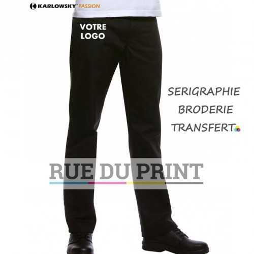 Pantalon publicité Manolo 65% polyester, 35% coton, irrétrécissable, 245 g/m² Tenue confortable grâce au Dow XLA®