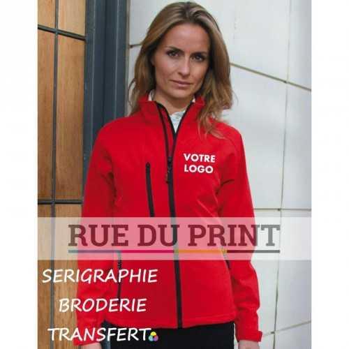 Veste publicité imperméable femme 210 g/m² couche ext.: 93% polyester, 7% spandex couche int.: 100% maille polyester sport