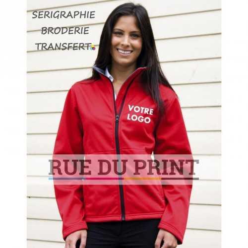 Veste publicité super stretch femme 290 g/m2 Ext: 100% Polyester couche moyenne: waterproof (5.000 mm), membrane respirante (1