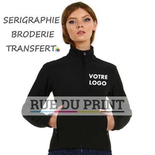 Veste publicité femme coupe ajustée 300 g/m² Extérieur: 96% polyester, 4% élasthanne (tissé Softshell) Doublure: 100% polyeste