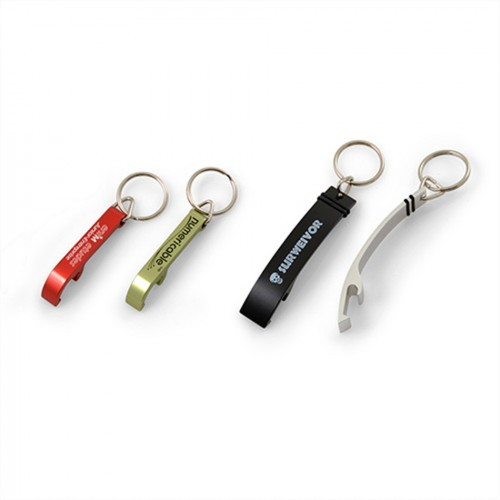 Porte-clés décapsuleur aluminium