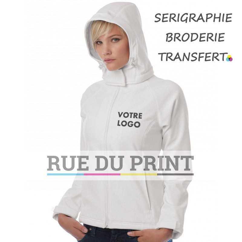 Veste publicité femme manches Raglan Ext: 94% polyester, 6% élasthanne couche intermédiaire: membrane micropore respirante dou
