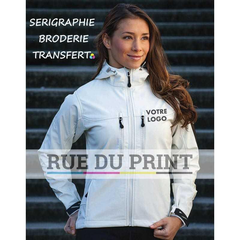 Veste publicité femme Epsilon HeXtreme 300g/m² 95% Nylon, 5% fabrication Spandex rip-stop mélangée avec Matrix micropolaire