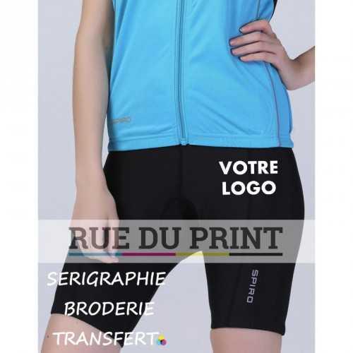 Short publicité Bicyclette femme 200 g/m² 80% polyamide (nylon), 20% élasthanne très léger