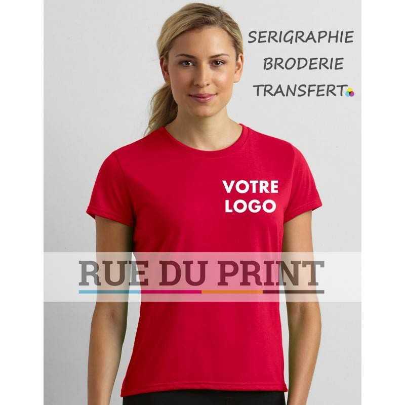 Tee-shirt publicité femme Gildan Performance®