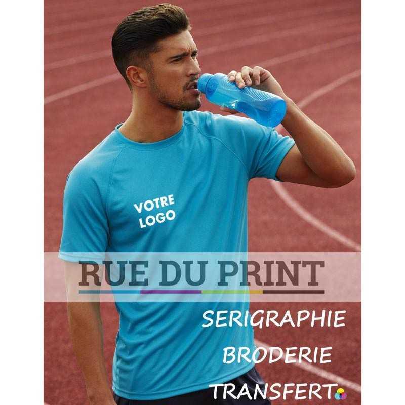 Tee-shirt publicité Performance manches Raglan 140 g/m2 100% polyester manches raglan sportives avec détail couture apparent
