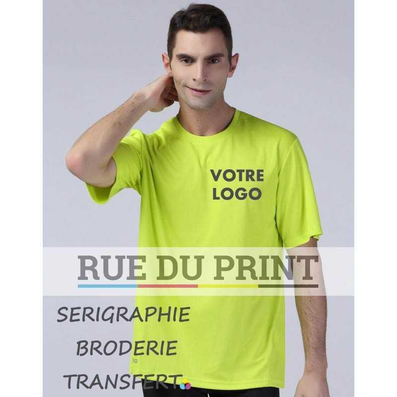 Tee-shirt publicité respirant Performance 160 g/m² interlock 100% polyester matière respirante qui laisse la peau sèche et con