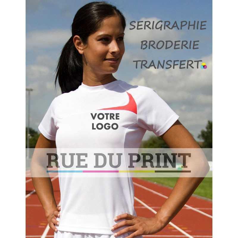 Tee-shirt publicité entrainement femme Spiro 140g/m² 100% polyester (maille Jacquard, Cool-Dry®) respirant et séchage rapide