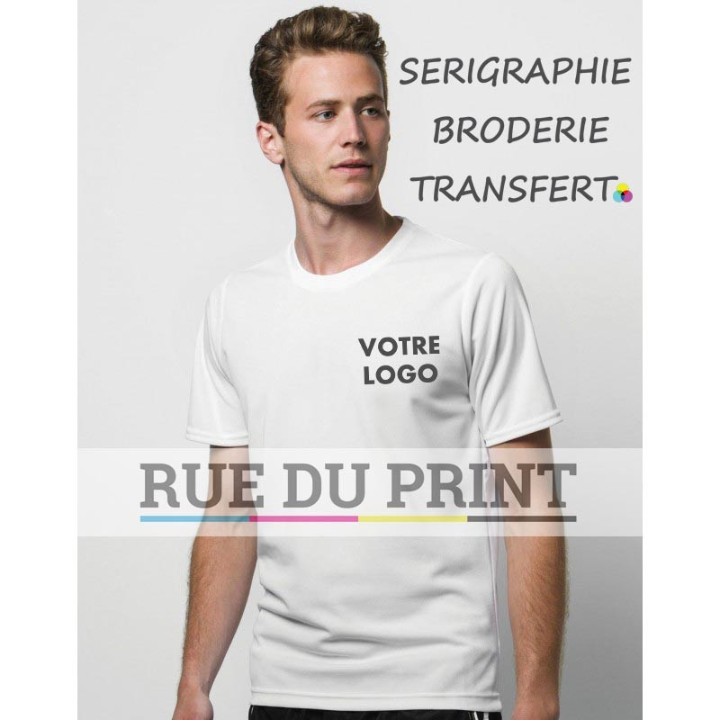 Tee-shirt publicité Sta-Cool® Subli 150 g/m2 100% polyester coutures renforcées aux épaules