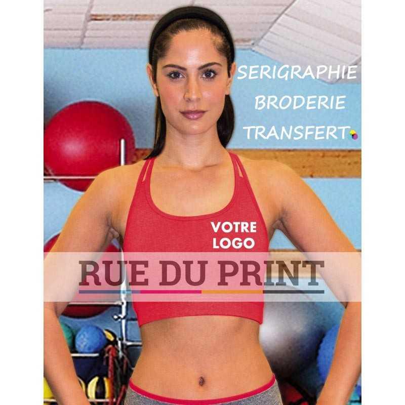 Haut publicité court Fitness femme Hot Coral: 180 g, 47% nylon, 47% polyester, 6% élasthanne (jersey brossé) Lavender: 180 g, 5