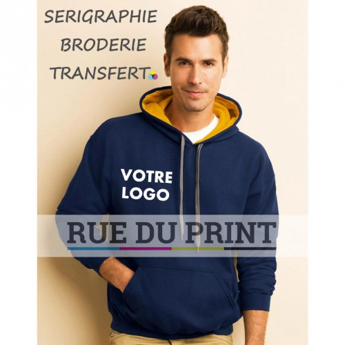 Sweat shirt homme Gildan Contraste