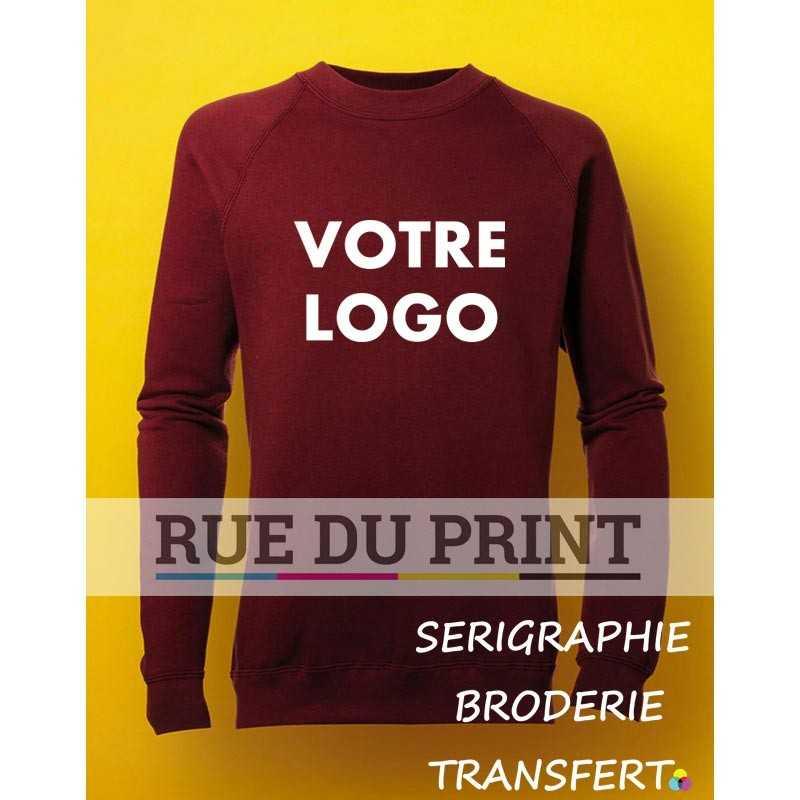 Sweat shirt publicité enfants Raglan 280 g/m2 80% coton peigné ringspun, 20% polyester (Light Oxford: 70% coton, 30% polyester)