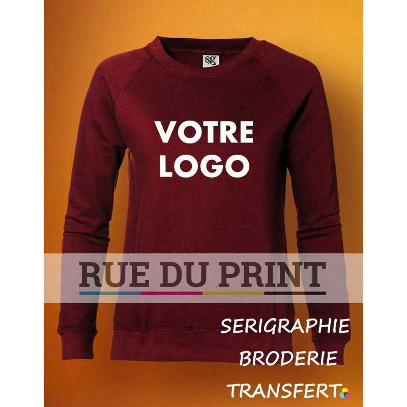 Sweat shirt publicité femme Raglan 280 g/m² 80% coton peigné ringspun, 20% polyester (Light Oxford: 70% coton, 30% polyester)
