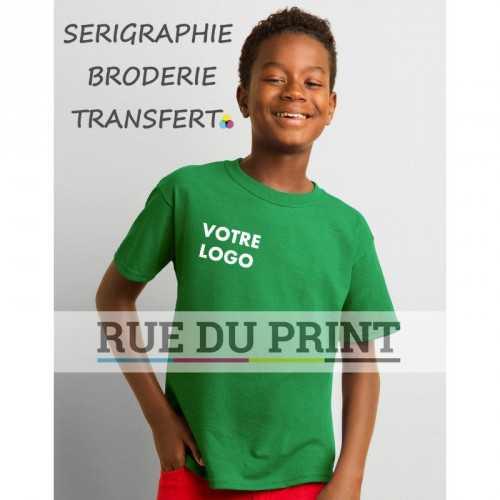 Tee-shirt publicité vert menthe profil jeune 185 g/m² (White: 175 g/m²) 100% coton jersey (Ash: 99% coton, 1% polyester; Sports