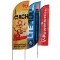 Wind flag classique ou Oriflamme publicitaire