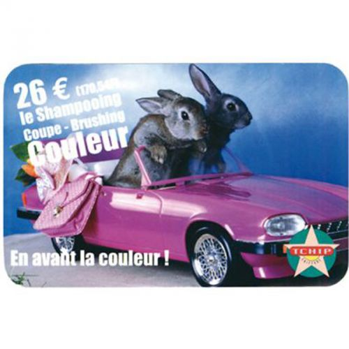 Porte carte adhesif transparent