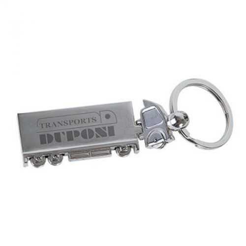 Porte-clés camion métal chrome