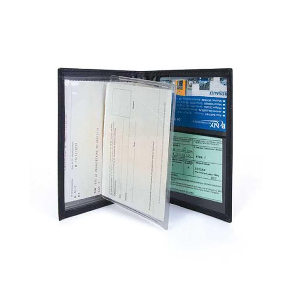 le porte carte grise noir personnalisable pour garder vos papiers. Black Bedroom Furniture Sets. Home Design Ideas