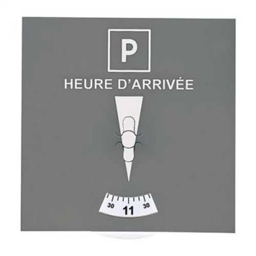 Disque de stationnement gris