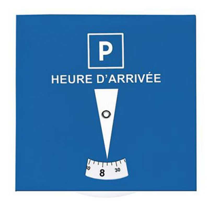 disque de stationnement carton personnalis bleu blanc au. Black Bedroom Furniture Sets. Home Design Ideas