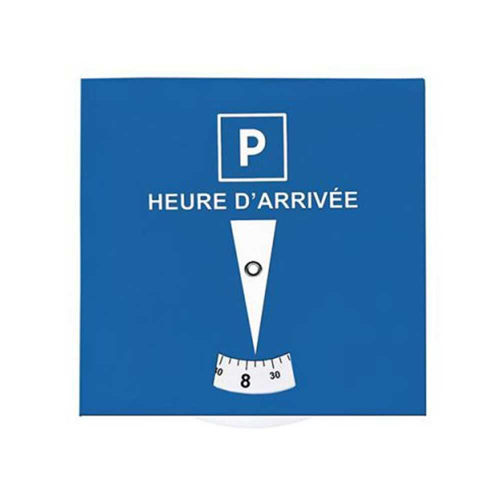 le disque de stationnement carton bleu blanc de nos produits accessoires pour auto personnalis s. Black Bedroom Furniture Sets. Home Design Ideas