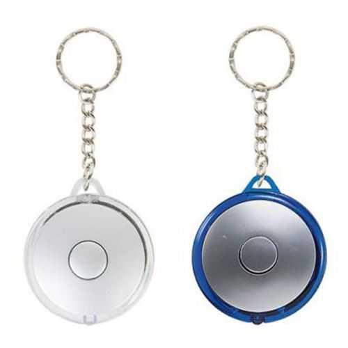 Porte-clés 1 LED rond argent/blanc transparent