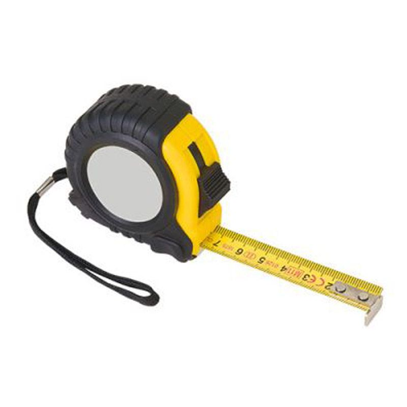 Mètre ruban 2 m noir/jaune