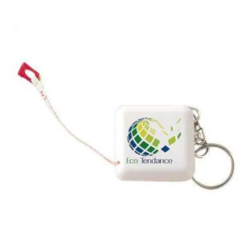 Porte-clés mètre blanc