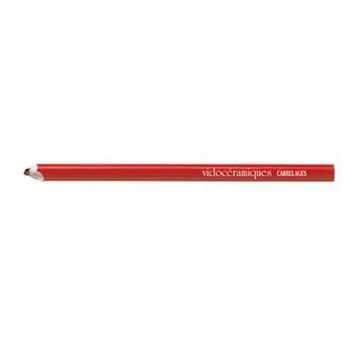 Crayon charpentier 25 cm rouge