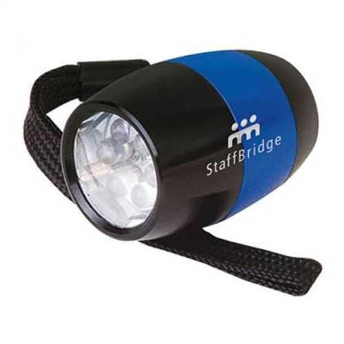 Mini lampe 6 LED noir/bleu