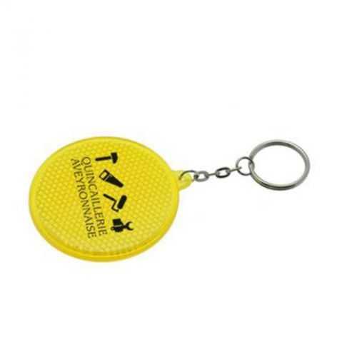 Porte-clés réfléchissant jaune