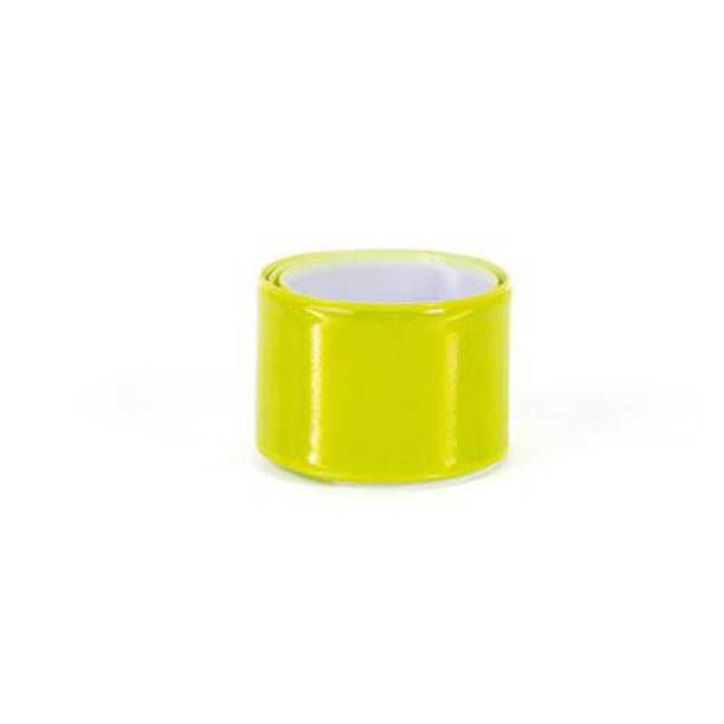 Bracelet réfléchissant jaune publicitaire