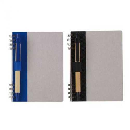 Bloc A6 80 pages lignes A/stylo naturel/bleu