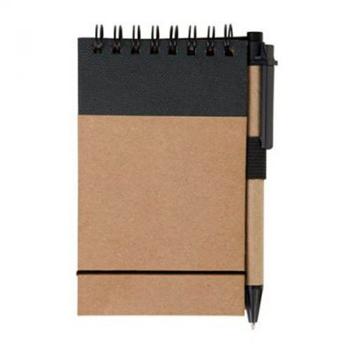 Bloc 40 pages lignes + adhésif A/stylo naturel/noir