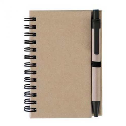 Bloc 40 feuilles lignes avec stylo naturel/noir