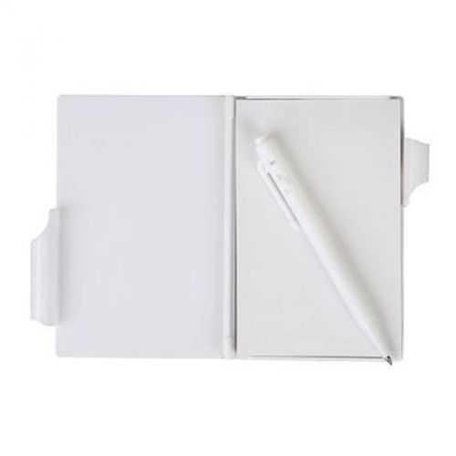 Bloc A7 80 feuilles avec stylo blanc