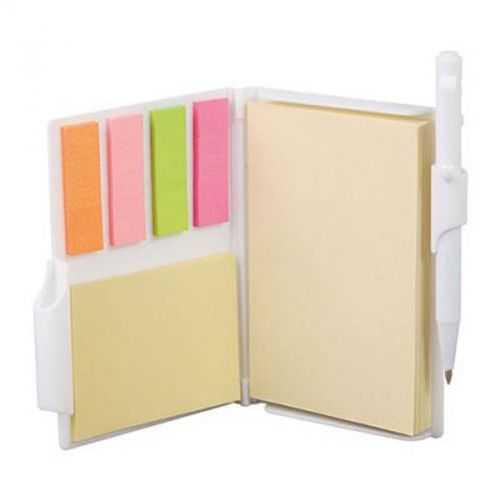 Bloc A7 85 feuilles adhésives avec stylo blanc