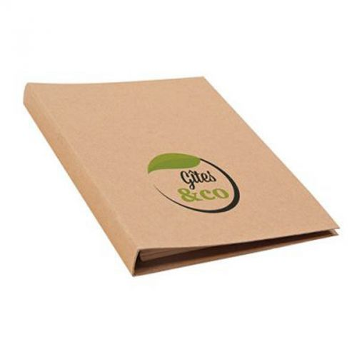Conférencier en papier recyclé naturel