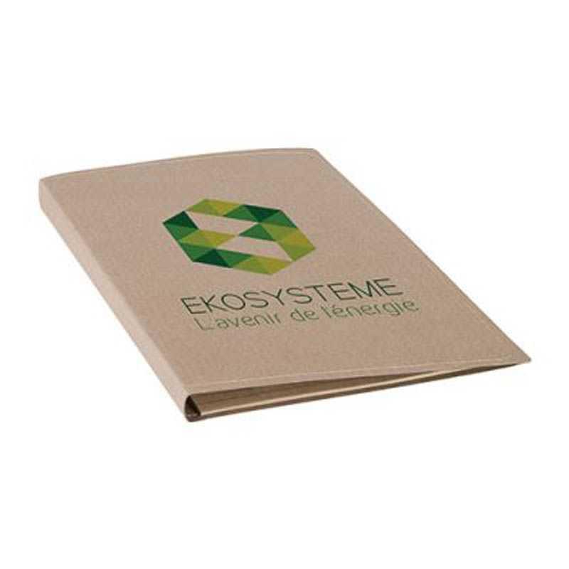 Conférencier A4 papier recyclé naturel