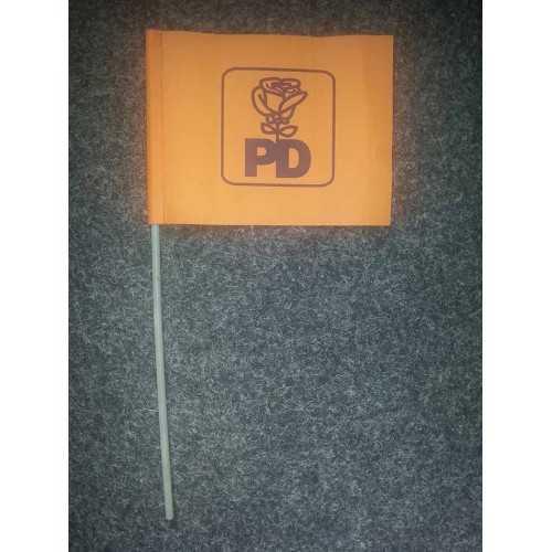 drapeaux avec manches personnalisé orange