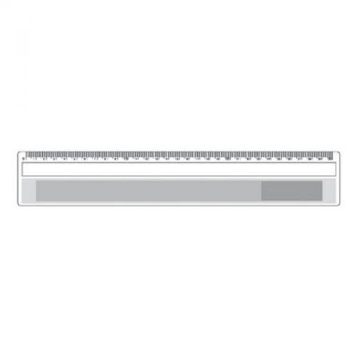 Règle 30 cm avec loupe transparente