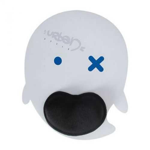 Tapis de souris ergonomique blanc/poignet noir