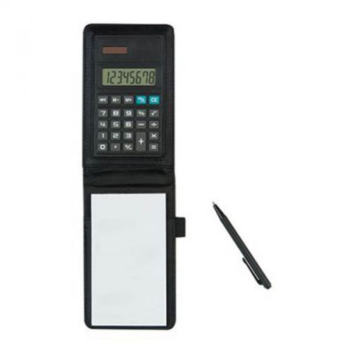 Calculatrice bloc notes stylo noir