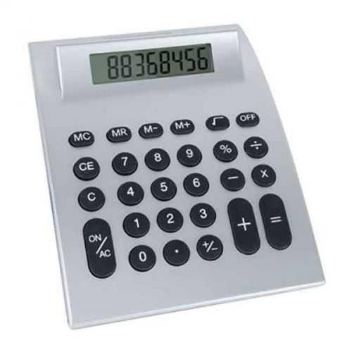 Calculatrice grand format argent
