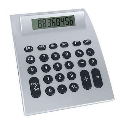 Calculatrice grand format argent