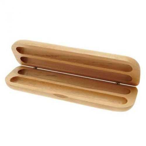 Boite parure bois 2 stylos bois clair