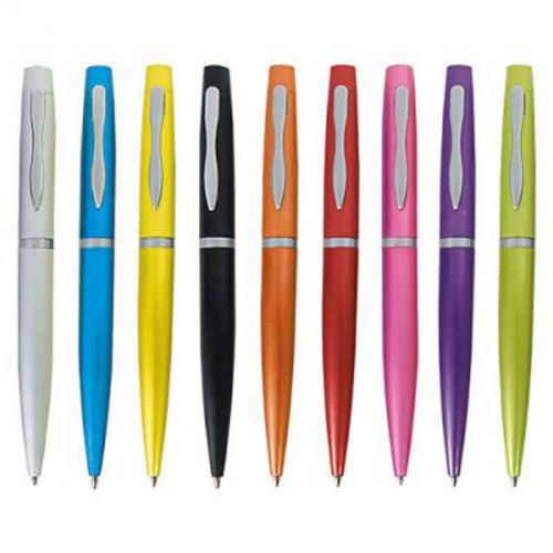 Parure stylo bille aluminium bleu turquoise