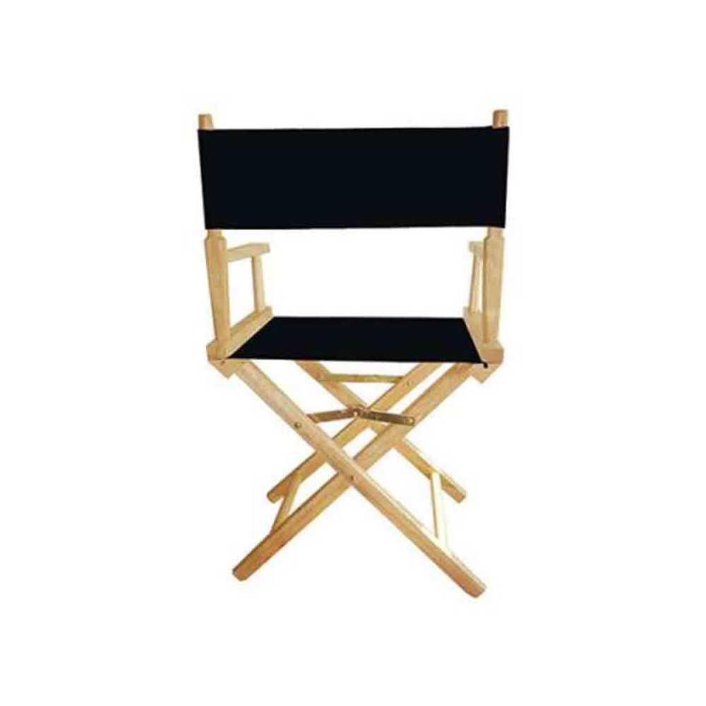 le chaise metteur en sc ne noir de nos produits transats personnalis s personnalis s. Black Bedroom Furniture Sets. Home Design Ideas