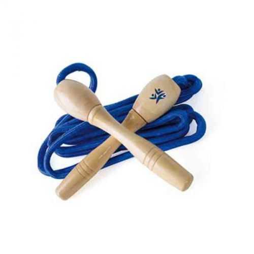 Corde à sauter naturel et bleu
